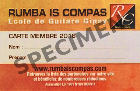 carte membre rumba is compas